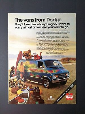 Vintage 1971 Dodge Custom Van Full Page Color AD](Custom Coloring Pages)