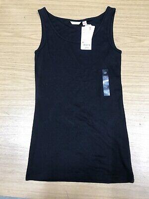 Ladies Uniqlo Airism Black Vest Top Size XS