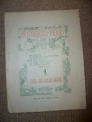 Carl Wilhelm Kern In a Sprightly Mood red roses vintage piano sheet music 1940s