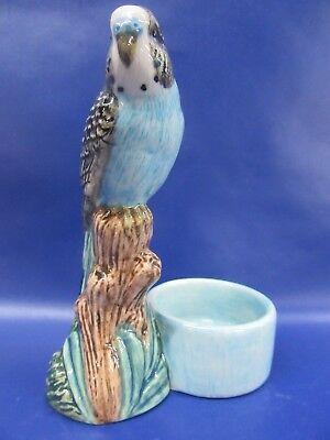 Budgerigar Tea Light Holder - Blue Budgie Tea Light - Gift Boxed - New
