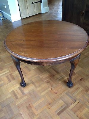 ORIGINAL ANTIQUE MAHOGANY EDWARDIAN ROUND CIRCULAR COFFEE OCCASIONAL TABLE