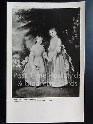 ANN AND JANE TAYLOR from original painting National Portrait Gallery No.1248
