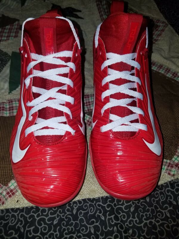 Nike Trout 3 Pro MCS Baseball Cleats Varsity Red Youth Kids 6Y 856499 667