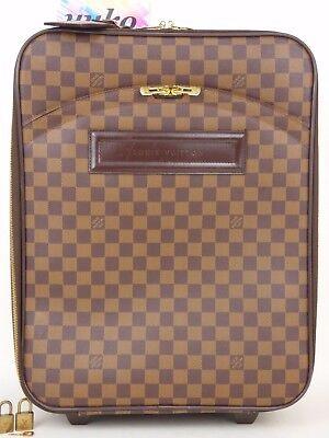 r3352 Auth LOUIS VUITTON Pegase 45 Damier Canvas Carry Suitcase Bag N23293