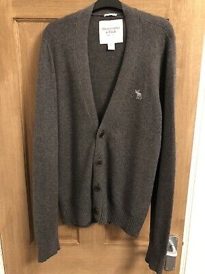 Abercrombie and Fitch Cardigan Mens - Grey (Large)