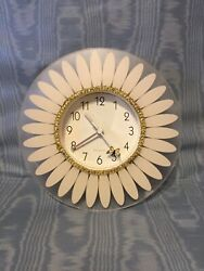 Vintage Novelty Unusual Flower & Butterfly  Wall Clock