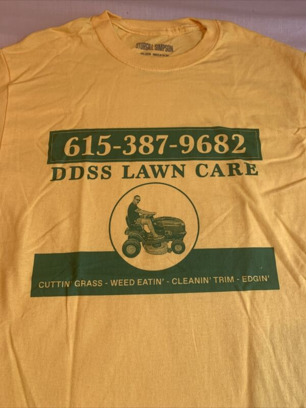 Sturgill Simpson Cutting Grass DDSS Lawn Care shirt Sz S