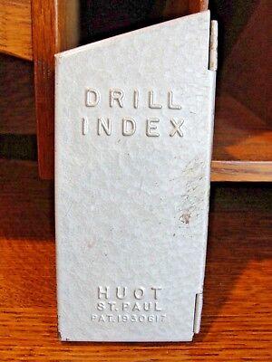 Vintage Huot St. Paul Drill Index Dispenser 13 Sizes Pat. 1930617 116-14