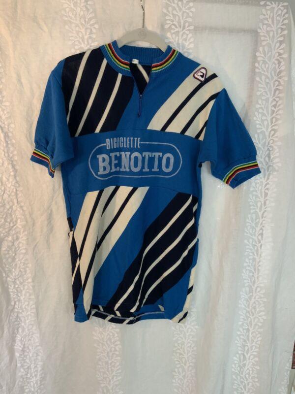 Vintage Biciclette Benotto Men's wool jersey
