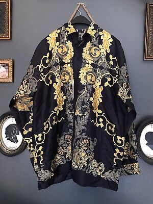 Versace Baroque Samurai Silk Shirt