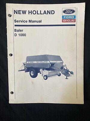 Ford New Holland Service Manual Baler D1000 1026