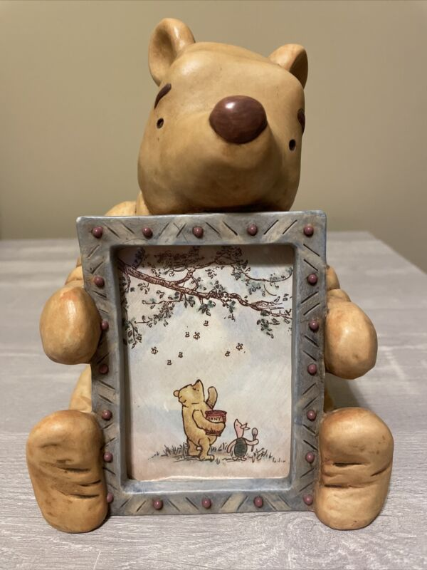 """Vintage Disney Classic """"Winnie The Pooh"""" Sitting Picture Frame By Charpente"""
