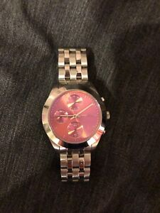 Marc Jacobs Womens watch - silver with pink face