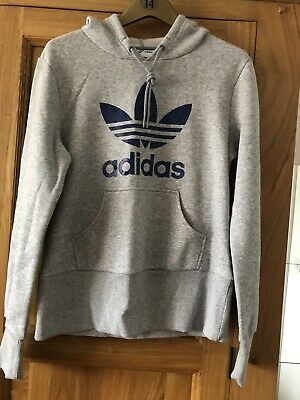 Ladies Size 14 Adidas Grey Hooded Jumper