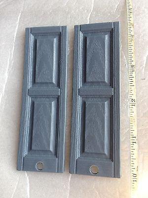 1:12 scale 8 Pair  16 pcs  Raised panel plastic doll house shutters Light Blue ()