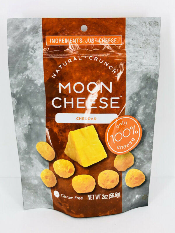 Cheddar Moon Cheese 2 oz bag, 100% Cheese Low-carb Keto-Friendly, 5 G protein