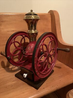 Antique Coffee Grinder Simplex No. 4 Works! See Description