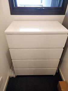 MALM Chest of 4 drawers, white Hawthorn East Boroondara Area Preview