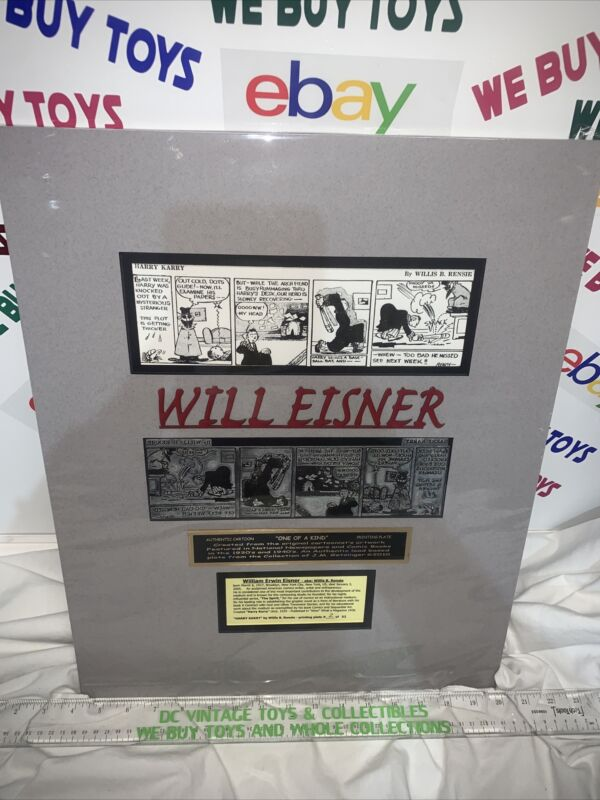 Original Will Eisner Cartoon Printing Plate From The Early 1900's Harry Karry