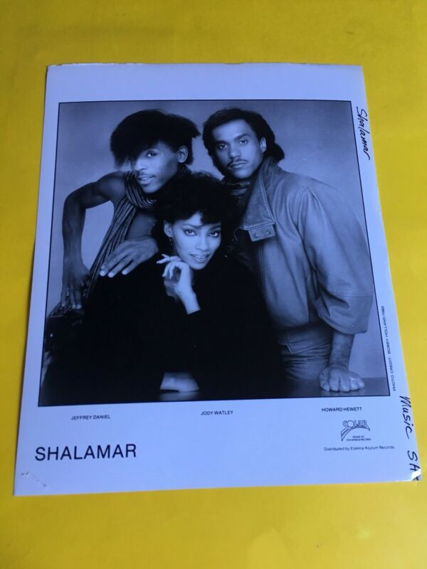 Shalamar  Press Photo 8x10, Jody Watley, Jeffrey Daniel, Howard Hewett, Solar 83