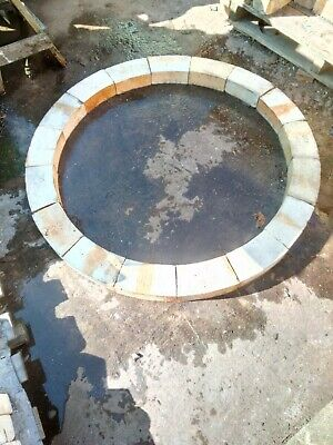 Commercial Furnace Brick Circle Ring Set For Pizza Oven Barbeque Fire Pit etc for sale  Walsall