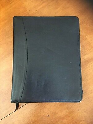 Franklin Quest Black Leather Zippered Planner - Classic Size