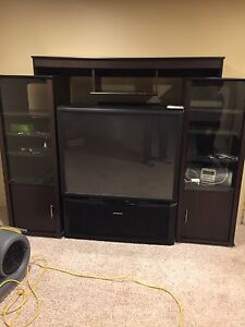 "Tv stand with 52"" tv"