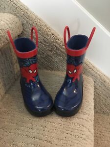 Spider-Man toddler size 6 rubber boots