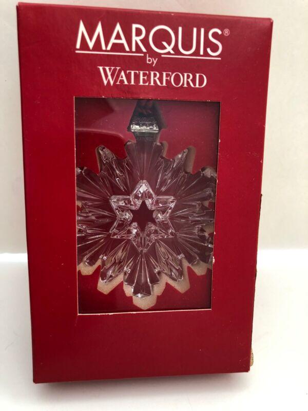Marquis Waterford Crystal 2005 Snowflake Ornament Orig Box  MINT