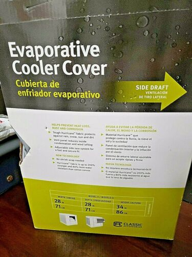 Classic Accessories Side Draft Evaporative Cooler Cover Gray NEW              S6