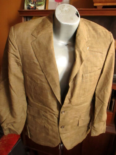38 True Vtg 60s Mens MUTED PLAID OLIVE DRAB RUDE BOY 2 BUTTON SUIT 30x29