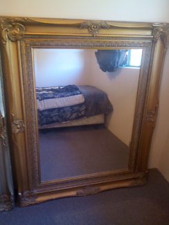 Antique style framed mirror 145cm by 110 cm