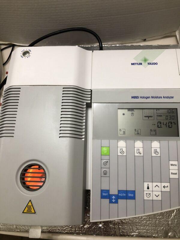 Mettler Toledo HG53 Halogen Moisture Analyzer Auto Samples Loading 51g Tested Ex