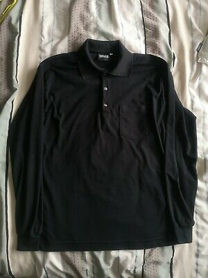 Versace Jens Couture Mens Black Long Sleeved Polo XL