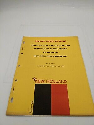 New Holland Service Parts Catalog Ford 134 Gas And Diesel 172 Engine