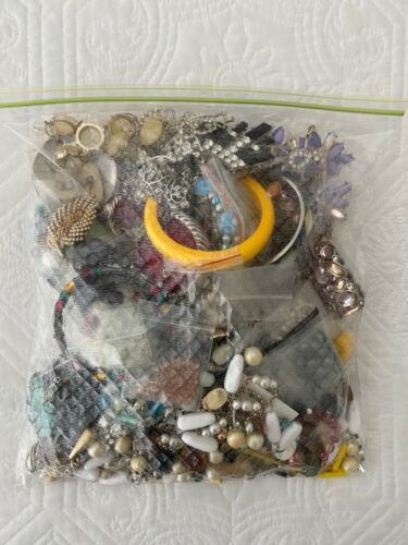 Jewelry Lot Harvest Scrap Parts Craft Only 5Lbs Lot B