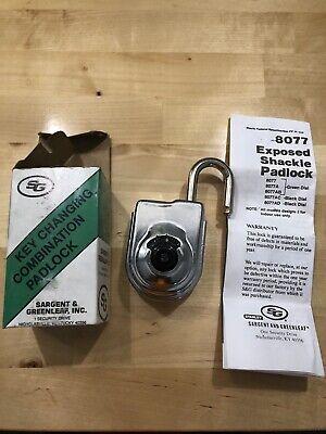 Sargent And Greenleaf Inc 8077-108 Combination Padlock Black Dial