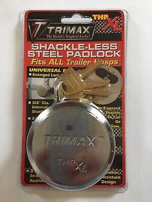 Trimax Hockey Puck All Keyed Alike Internal Shackle Trailer Door Lock 2 Pack