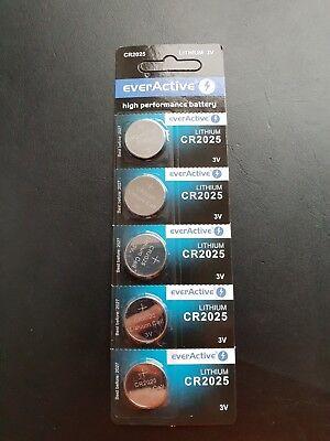 Batterien: 5x CR2025 Batterie - Lithium - 3 V - NEU/OVP - MDH 2027 Crv3 3v Lithium Batterie