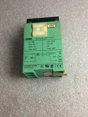 (L27-5) PHOENIX CONTACT CM62-PS-120AC/12VDC/1 POWER SUPPLY