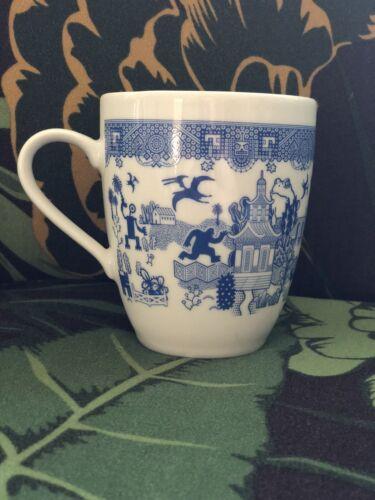 NEW Calamity Ware Mug Blue white variant pattern Robot Dino Monster