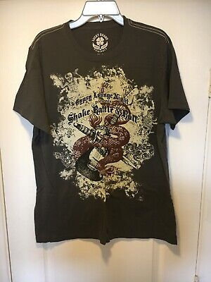 Lucky Brand Rock N Roll Themed Men's T-Shirt, size L](Rock N Roll Theme)