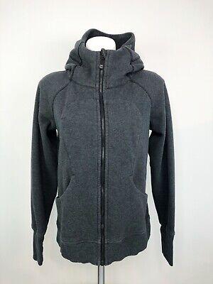 Lululemon Women's Gray Scuba Zipper Hooded Sweater Jacket Size 10