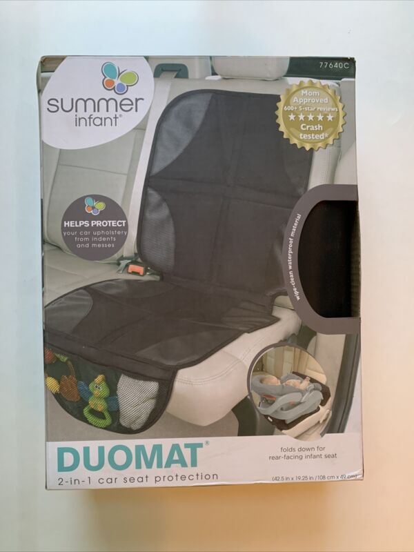 Summer Infant DuoMat 2-in-1 Car Seat Protection Non-Slip Waterproof- Black