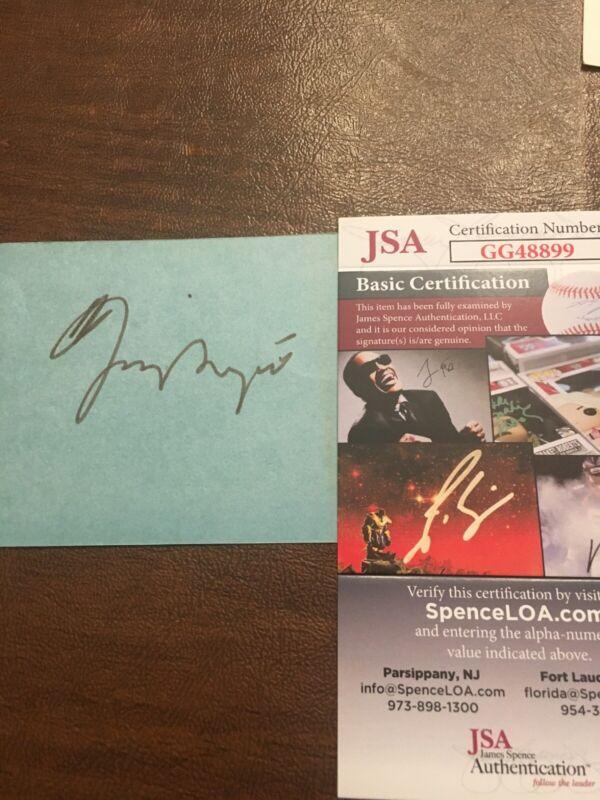 Vintage Signed Dizzy Gillespie Autograph 3x5 Card JSA Authenticated