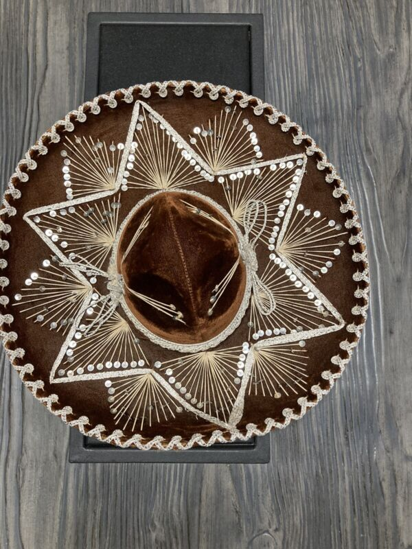 Vintage Mexican PIGALLE XXXXX Sombrero Mariachi Brown Felt Hat Cinco de Mayo