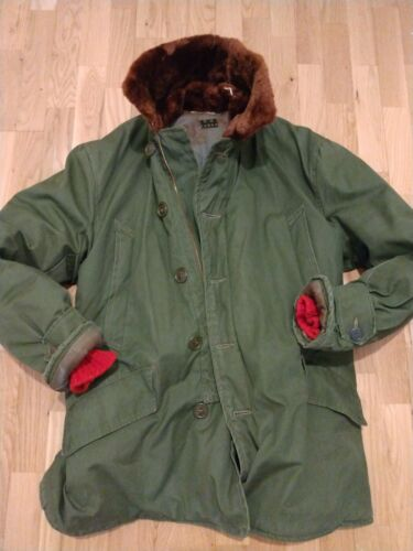 FINEST EXAMPLE WW2 B-9 USAF GI Named Parka Jacket Coat WWII USA Rare Large