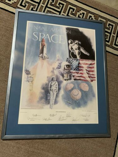 Naval Aviation in Space Ltd Ed Signed by Neil Armstrong + 8 more Astronauts