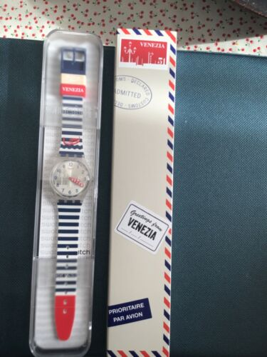 SWATCH GREETINGS FROM  VENEZIA   🇮🇹 NEW WITH BOX PERFECT GZ306