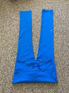 ROYAL BLUE LULULEMON LEGGINGS HIGH WAIST OR ROLL DOWN, POCKETS